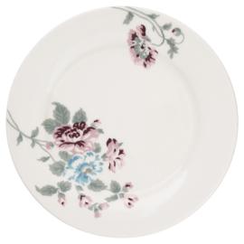 GreenGate Stoneware Plate Maude White D 20,5 cm