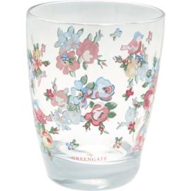 GreenGate Water Glass Ellie White H 9,5 cm
