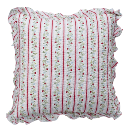GreenGate Cushion With Frill Gloria White 50 x 50 cm