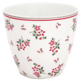 GreenGate Stoneware Latte Cup Avery White H 9 cm