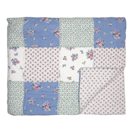 GreenGate Bed Cover Nicoline White Patchwork 140 x 240 cm