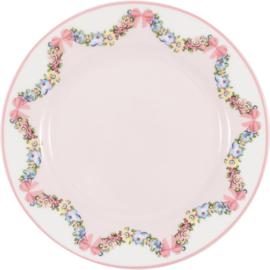 GreenGate Stoneware Plate Maya Pale Pink D 20,5 cm