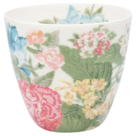GreenGate Stoneware Latte Cup Adele White H 9 cm