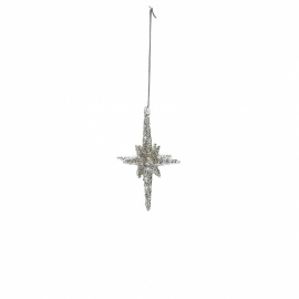 GreenGate Christmas Star Sparkling Small H 8,5 cm