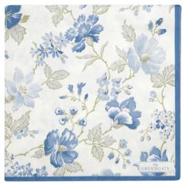 GreenGate Paper Napkin Donna Blue Large 20 Pieces 33 x 33 cm