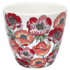GreenGate Stoneware Latte Cup Aria White H 9 cm