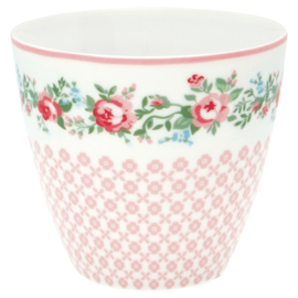 GreenGate Stoneware Latte Cup Gabby White H 9 cm