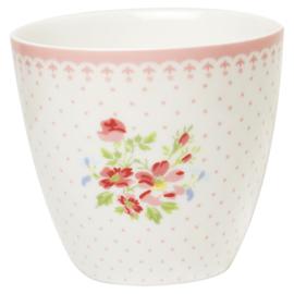 GreenGate Stoneware Latte Cup Sinja White H 9 cm