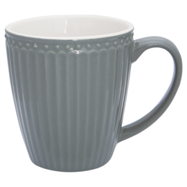 GreenGate Stoneware Mug Alice Stone Grey