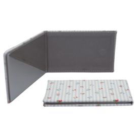 GreenGate Plastic Pocket Mirror Square Viola Check Pale Blue