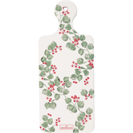GreenGate Ceramic Coaster Board Scarlett White