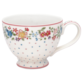 GreenGate Stoneware Teacup Belle White