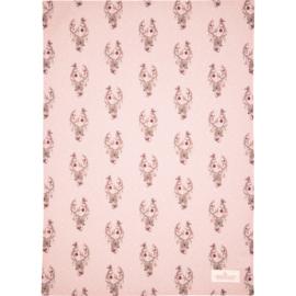 GreenGate Cotton Teatowel Dina Pale Pink 50 x 70 cm