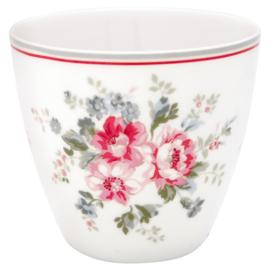 GreenGate Stoneware Latte Cup Elouise White H 9 cm