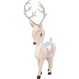GreenGate Wood Decoration Bambi White Small