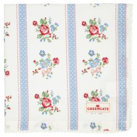 GreenGate Cotton Napkin With Lace Evie White 40 x 40 cm
