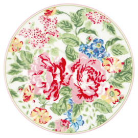 GreenGate Stoneware Plate Emmaline White D 20,5 cm