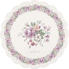 GreenGate Ceramic Coaster Round Marie Peach
