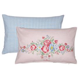 GreenGate Cotton Cushion Henrietta Pale Pink Piece Printed 40 x 40 cm