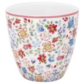 GreenGate Stoneware Mini Latte Cup Clementine White H 6,5 cm