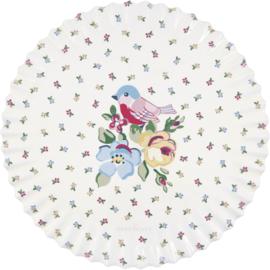 GreenGate Ceramic Coaster Board Round Ellie White