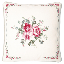 GreenGate Cushion Elouise White Piece Printed 40 x 40 cm