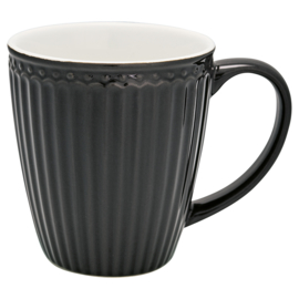 GreenGate Stoneware Mug Alice Dark Grey