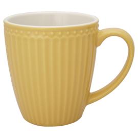 GreenGate Stoneware Mug Alice Honey Mustard H 10 cm