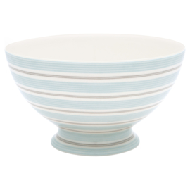 GreenGate Stoneware Soup Bowl Tova Pale Blue D 15 cm