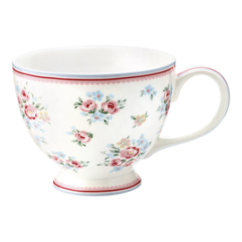 GreenGate Stoneware Teacup Nicoline White H 9 cm