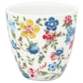 GreenGate Stoneware Mini Latte Cup Sophia white H 6,5 cm