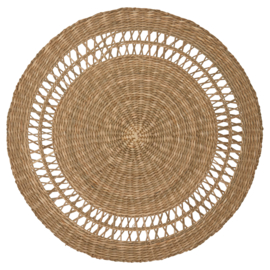 GreenGate Willow Placemat Round Straw D 38 cm