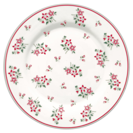 GreenGate Stoneware Plate Avery White D 20,5 cm