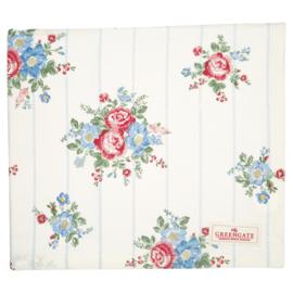 GreenGate Cotton Tablecloth Henrietta White 145 x 250 cm