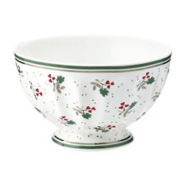 GreenGate Stoneware French Bowl Medium Joselyn White D 10 cm