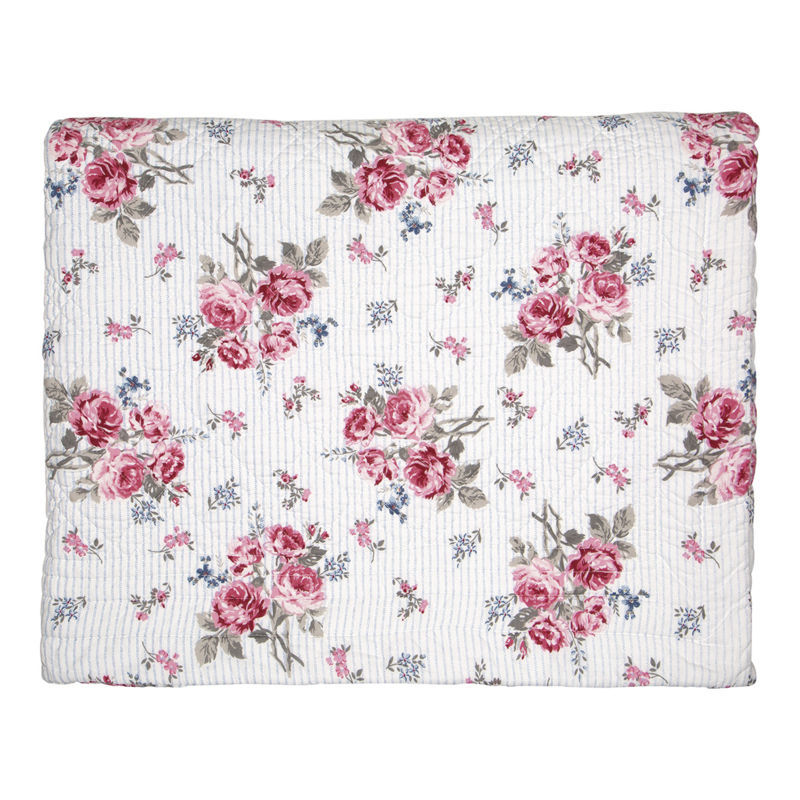 GreenGate Bed Cover Elisabeth White 140 x 220 cm