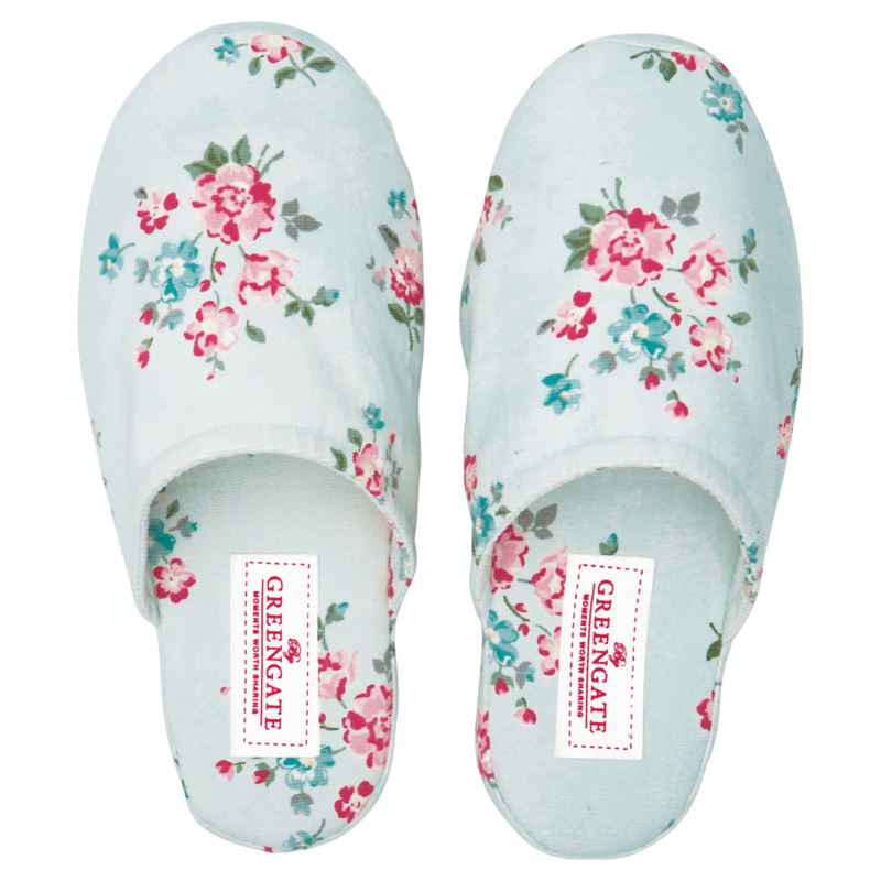 GreenGate Slippers Medium Sonia Pale Blue