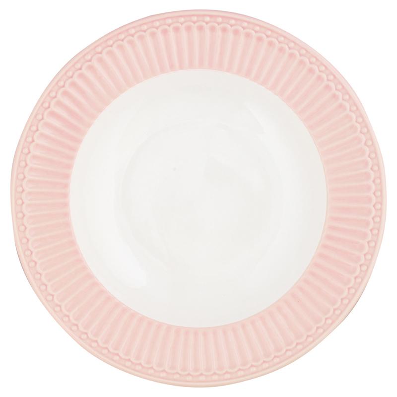 GreenGate Stoneware Deep Plate Alice Pale Pink D 21,5 cm