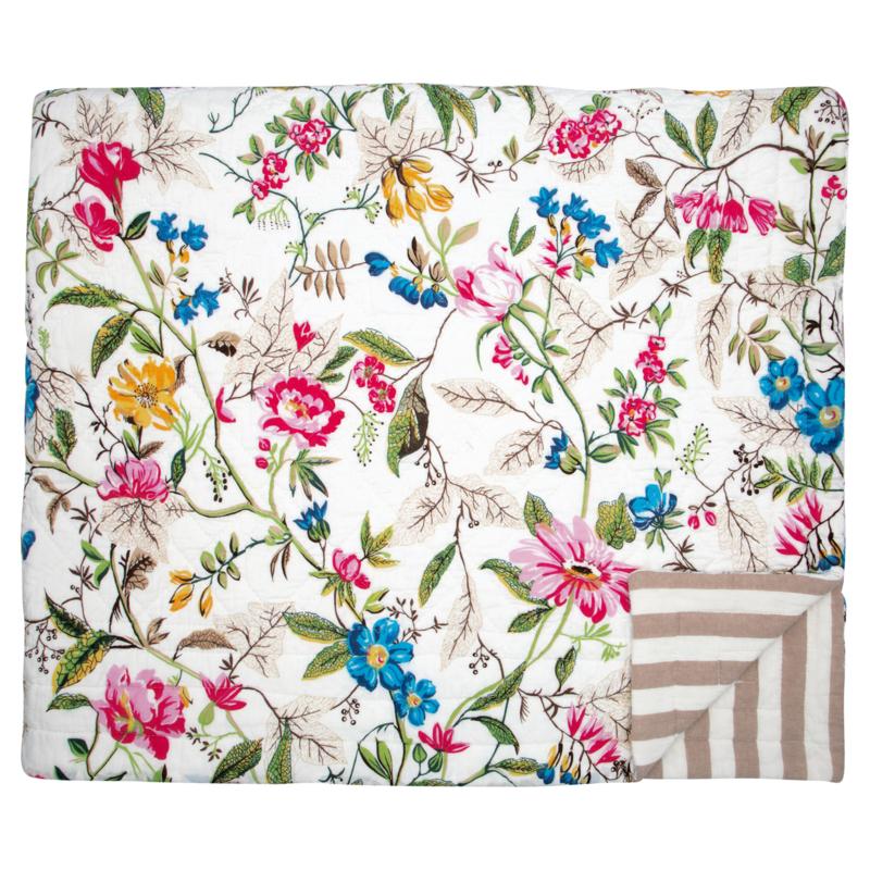 GreenGate Bed Cover Ellen White 140 x 220 cm