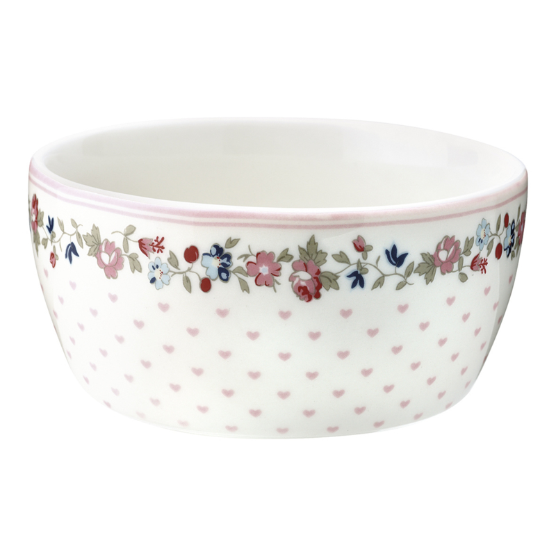 GreenGate Stoneware Kids Bowl Ruby Petit White D 12,2 cm