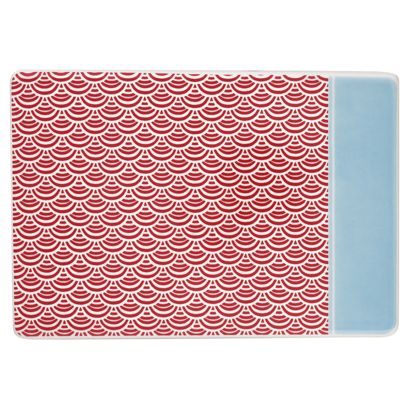 GreenGate Stoneware Buttering Board Nancy Red 14,0 x 20,5 cm