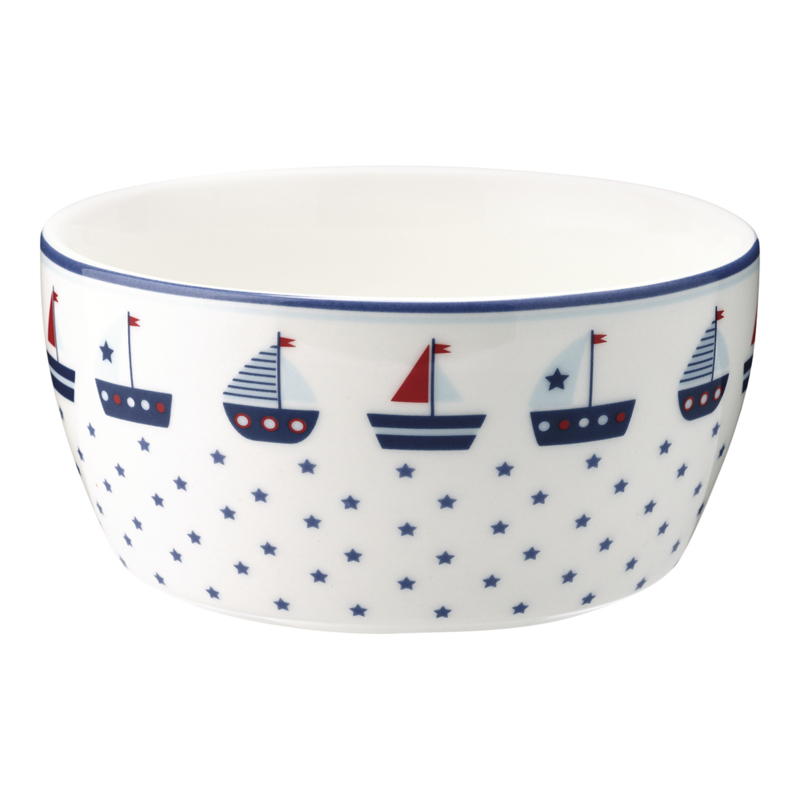 GreenGate Stoneware Kids Bowl Noah Blue D 12,2 cm