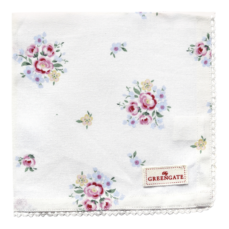 GreenGate Napkin With Lace Nicoline White 40 x 40 cm