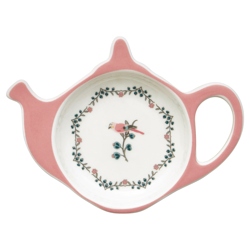 GreenGate Stoneware Teabag Holder Sienna White 10,0 x 12,5 cm