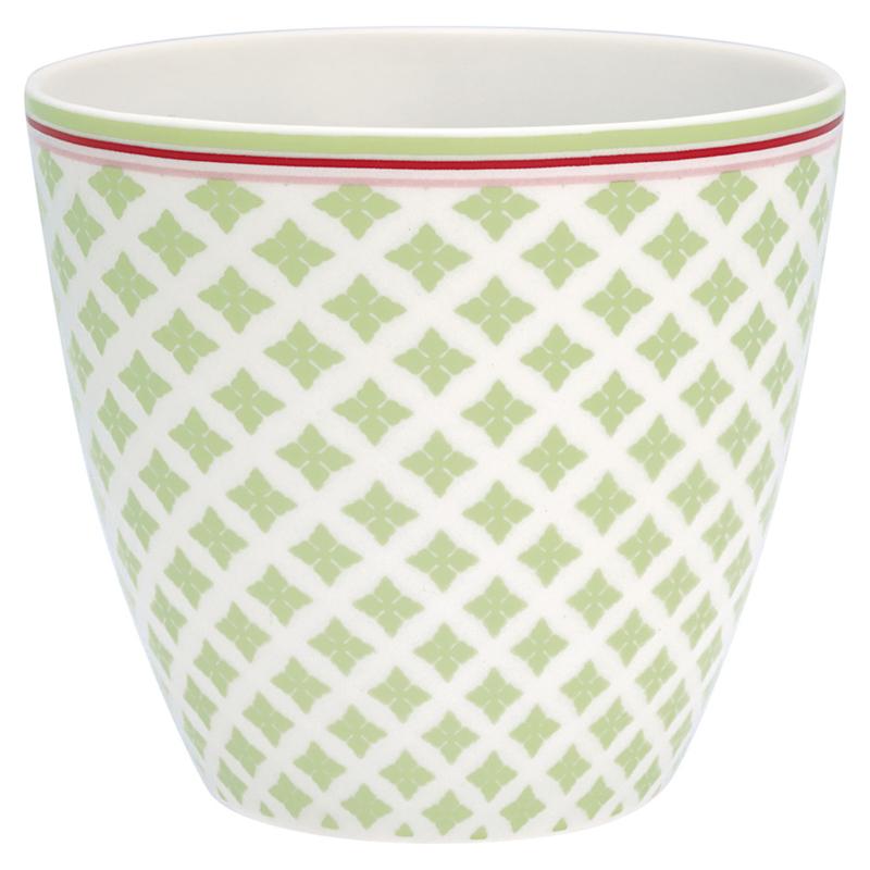 GreenGate Stoneware Latte Cup Sasha Green H 9 cm