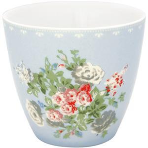 GreenGate Stoneware Latte Cup Petricia Pale Blue