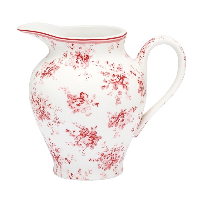 GreenGate Stoneware Creamer Abelone Raspberry H 11,5 cm