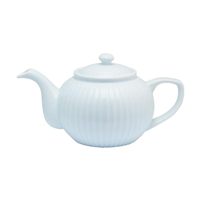 GreenGate Stoneware Teapot Alice Pale Blue H 14 cm