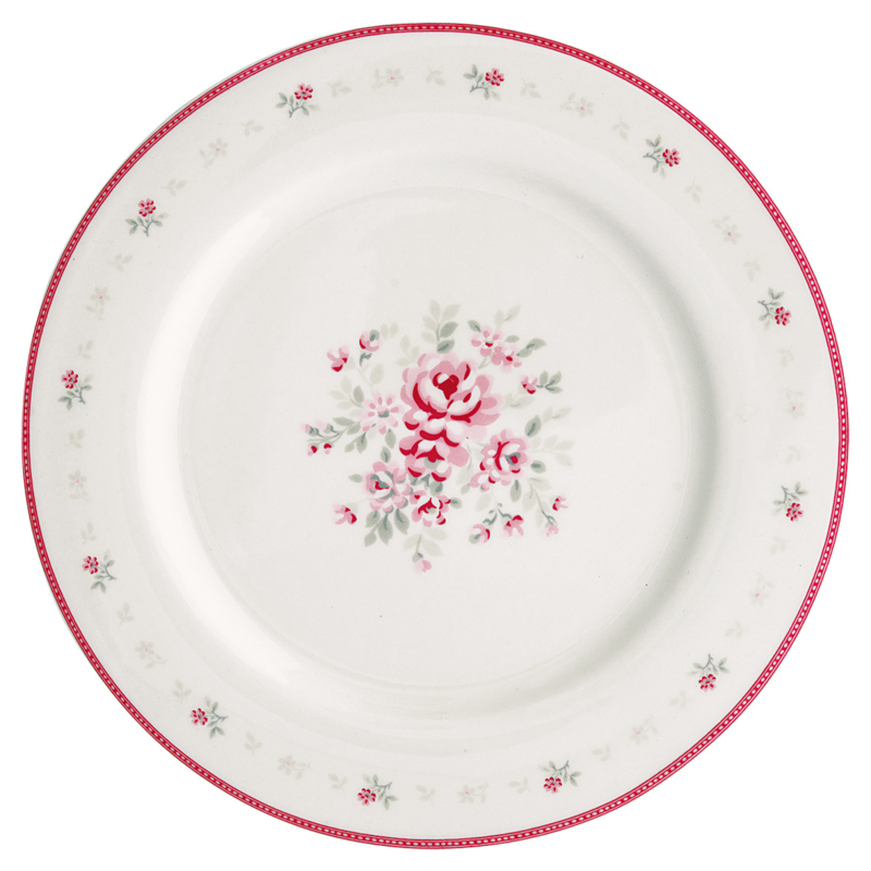 GreenGate Stoneware Dinnerplate Flora White D 25,6cm