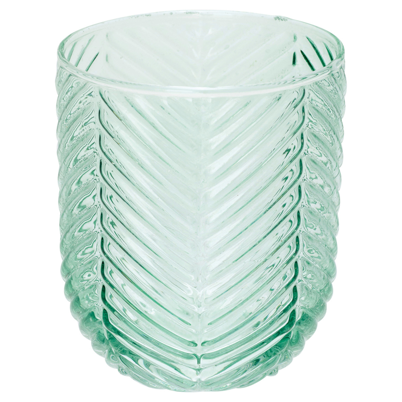 GreenGate Waterglass Allover Pale Green Cutting Small H 9,3 cm